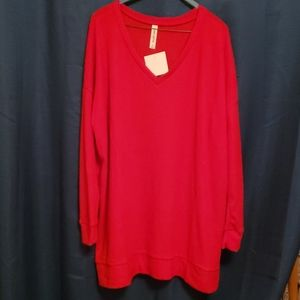 Zenana Outfitters XL Tunic Top Red